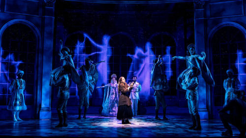 "Christy Altomare as ""Anya,"" and the cast of Anastasia."
